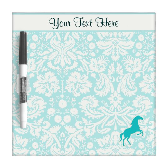 Teal Horse Dry-Erase Board