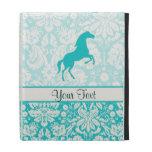 Teal Horse iPad Folio Cover