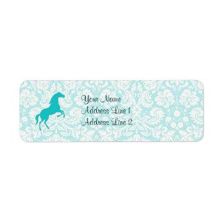 Teal Horse Label