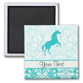 Teal Horse Fridge Magnets