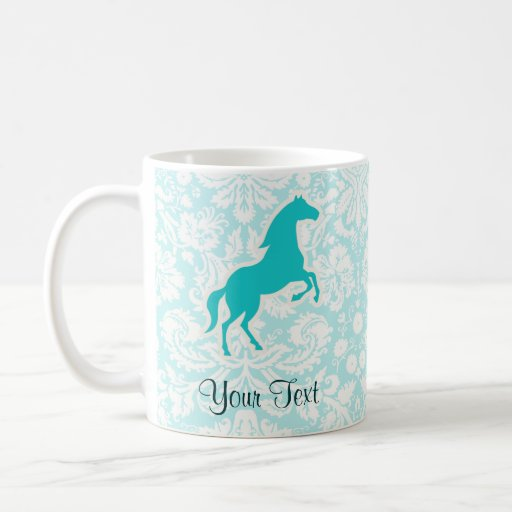 Teal Horse Coffee Mugs