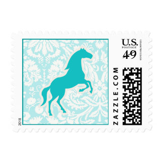 Teal Horse Postage