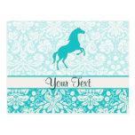 Teal Horse Postcard