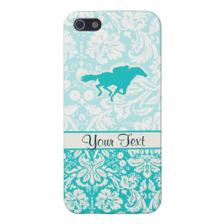 Teal Horse Racing Cases For iPhone 5