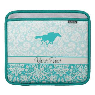 Teal Horse Racing Sleeve For iPads