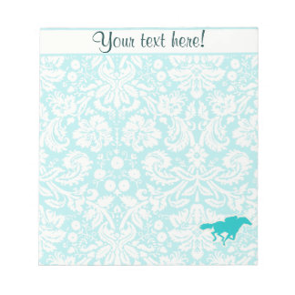 Teal Horse Racing Note Pads