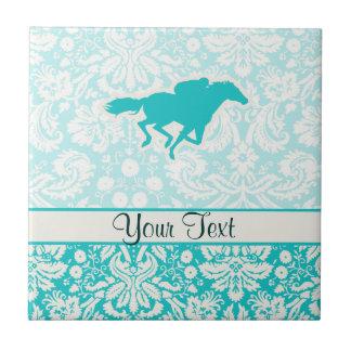 Teal Horse Racing Tiles