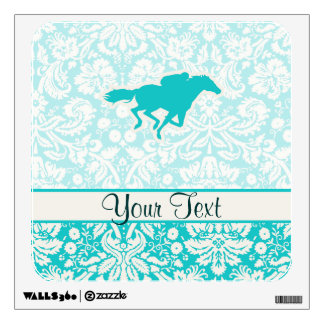 Teal Horse Racing Wall Decals