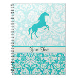Teal Horse Spiral Note Books