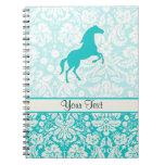 Teal Horse Spiral Notebook