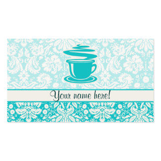Teal Hot Coffee Double-Sided Standard Business Cards (Pack Of 100)