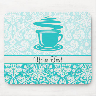 Teal Hot Coffee Mousepad