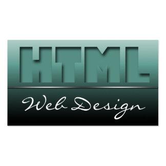 Teal HTML Web Design Sleek Business Cards