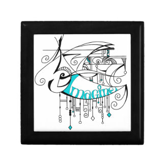 Teal Imagine In Lines and Dangles Gift Box