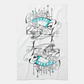Teal Imagine In Lines and Dangles Towel
