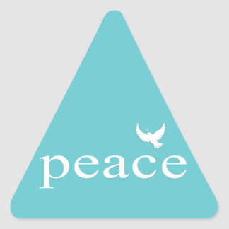 Teal Inspirational Peace Quote Sticker