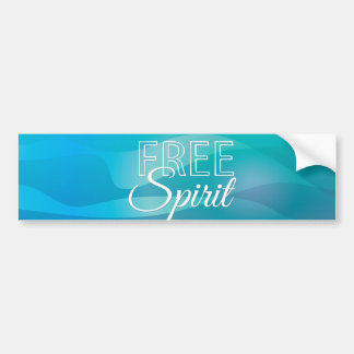 Teal Inspirational Spritiual Freedom Quote Bumper Sticker