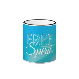 Teal Inspirational Spritiual Freedom Quote Ringer Mug