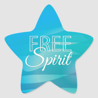 Teal Inspirational Spritiual Freedom Quote Star Sticker