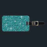 """Teal iridescent glitter bag tag<br><div class=""""desc"""">Add a touch of sparkle to your day with this iridescent glitter!</div>"""