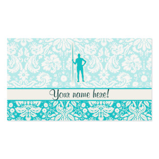 Teal Javelin Throw Double-Sided Standard Business Cards (Pack Of 100)