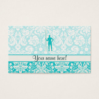 Teal Javelin Throw Business Card