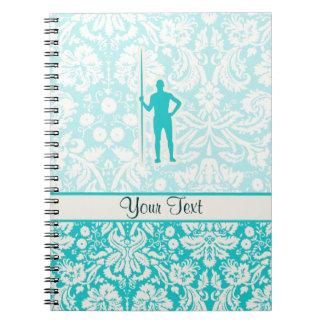 Teal Javelin Throw Notebook