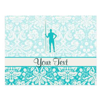 Teal Javelin Throw Postcard