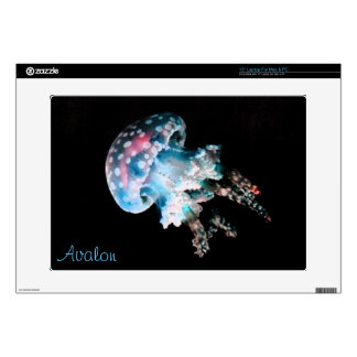 Teal Jellyfish Laptop Skin