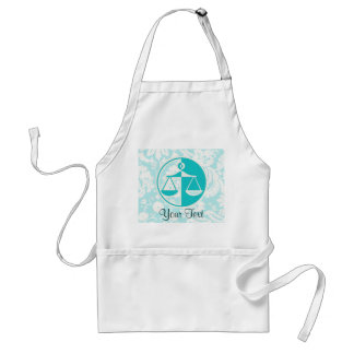 Teal Justice Scales Aprons