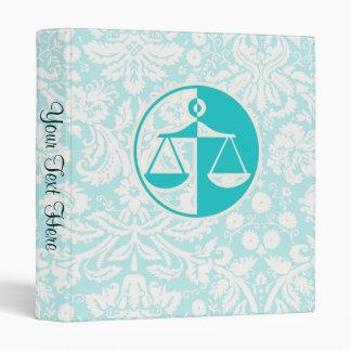 Teal Justice Scales Vinyl Binder