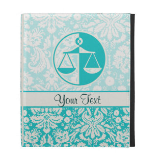 Teal Justice Scales iPad Folio Covers