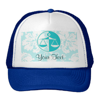 Teal Justice Scales Hat