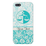 Teal Justice Scales iPhone 5/5S Case