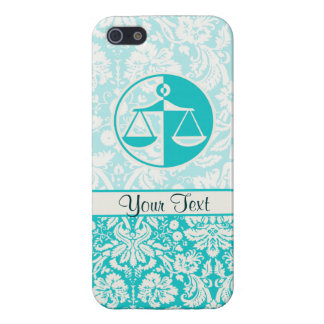 Teal Justice Scales iPhone 5 Case