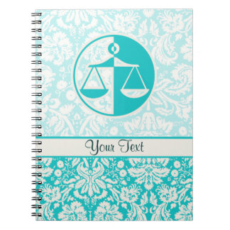 Teal Justice Scales Notebook