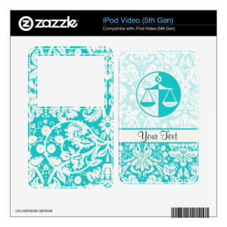Teal Justice Scales Skin For The iPod Video