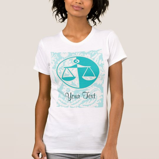 Teal Justice Scales T-Shirt