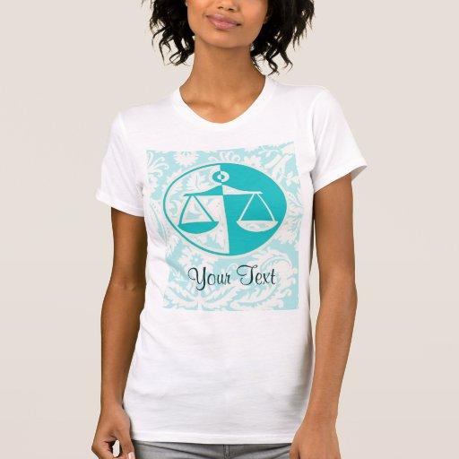 Teal Justice Scales Tshirt