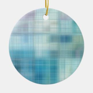 Teal Jute Fiber Art Christmas Ornaments