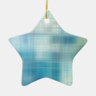 Teal Jute Fiber Art Christmas Tree Ornaments