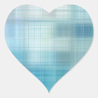 Teal Jute Fiber Art Heart Sticker