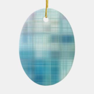 Teal Jute Fiber Art Ornament