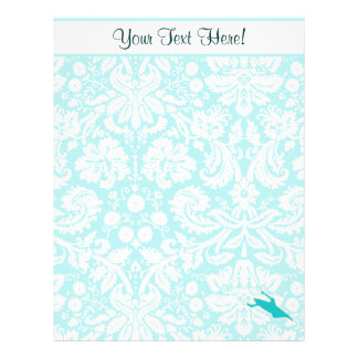 Teal Kayaking Personalized Letterhead