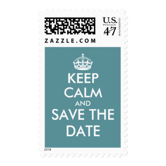Teal keep calm and Save the date wedding stamps