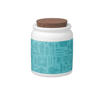 Teal Kitchen Ware Jar Candy Jars