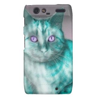 Teal Kitty Motorola Droid RAZR Cases