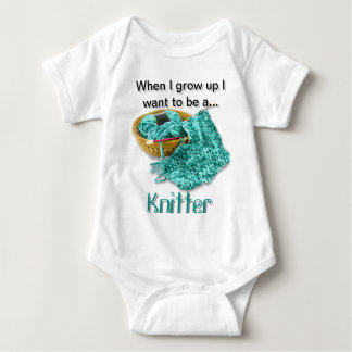 Teal Knitter - When I Grow Up I Want to be a... Tees