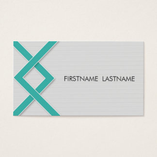 Teal Knot Personal Networking Business Cards