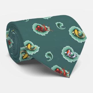 Teal Koi Paisley Design Tie